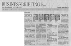 Business Briefing newspaper article